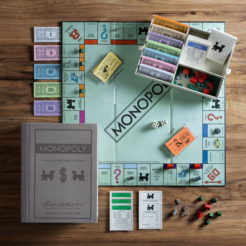 WS Games Monopoly Vintage Bookshelf Edition