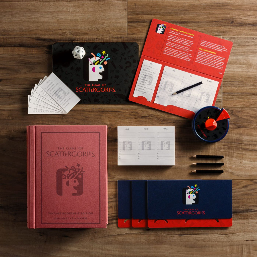 WS Games Scattergories Vintage Bookshelf Edition