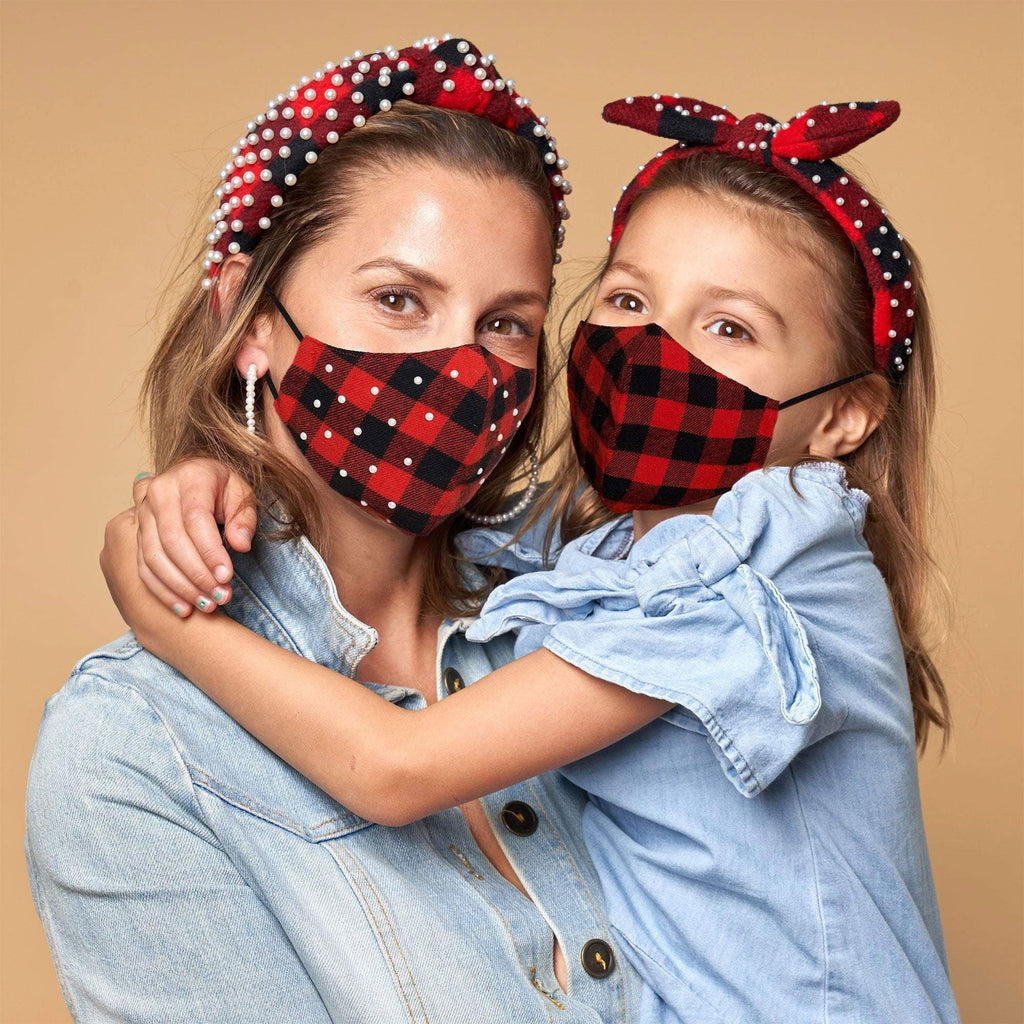 Lele Sadoughi Set of 2 Kids' Aspen Lodge Face Masks