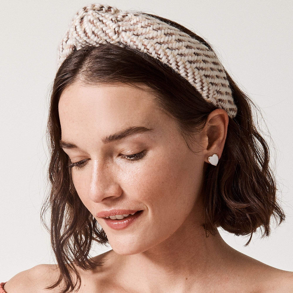 Lele Sadoughi Knitted Knotted Headband in French Toast
