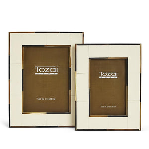 Tozai Milano Photo Frame in Ivory/Horn