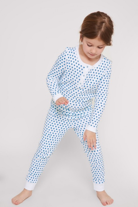 Roller Rabbit Hearts Kids Pajamas in Blue