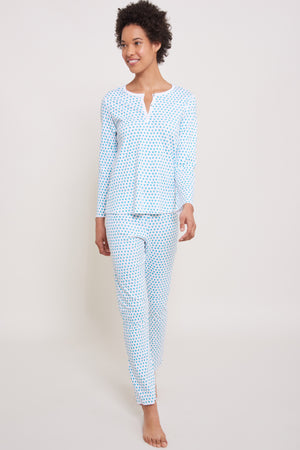 Roller Rabbit Women's Mint Hearts Pajamas