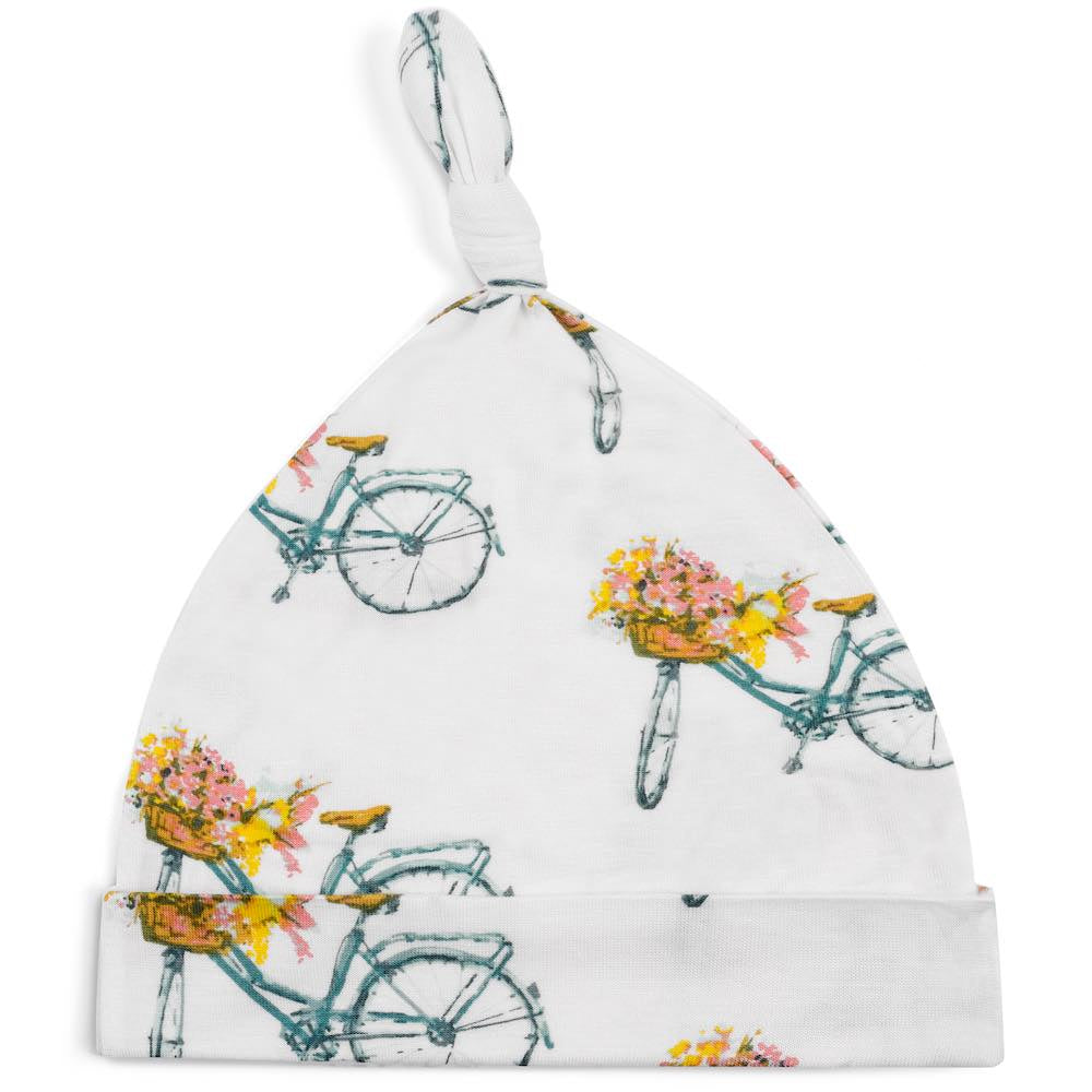 Milkbarn Floral Bicycle Bamboo Knotted Hat