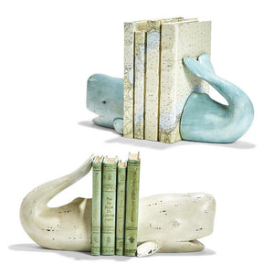 Two's Company Whale Tale Bookends - Multiple Colors