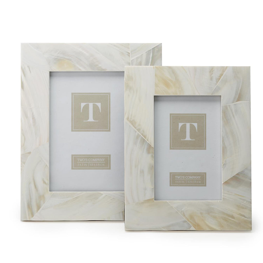 Two's Company Mother of Pearl Frame - Multiple Sizes!