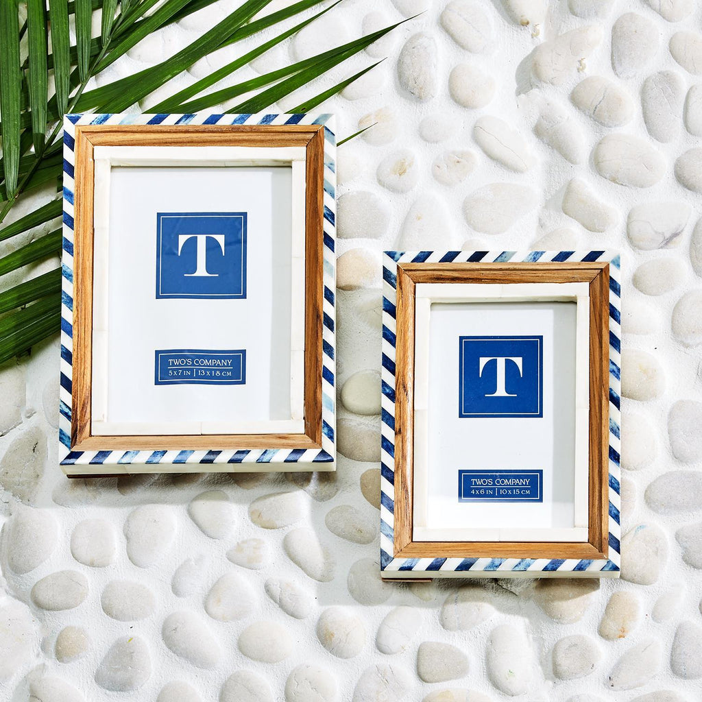 Two's Company Blue & White Frame