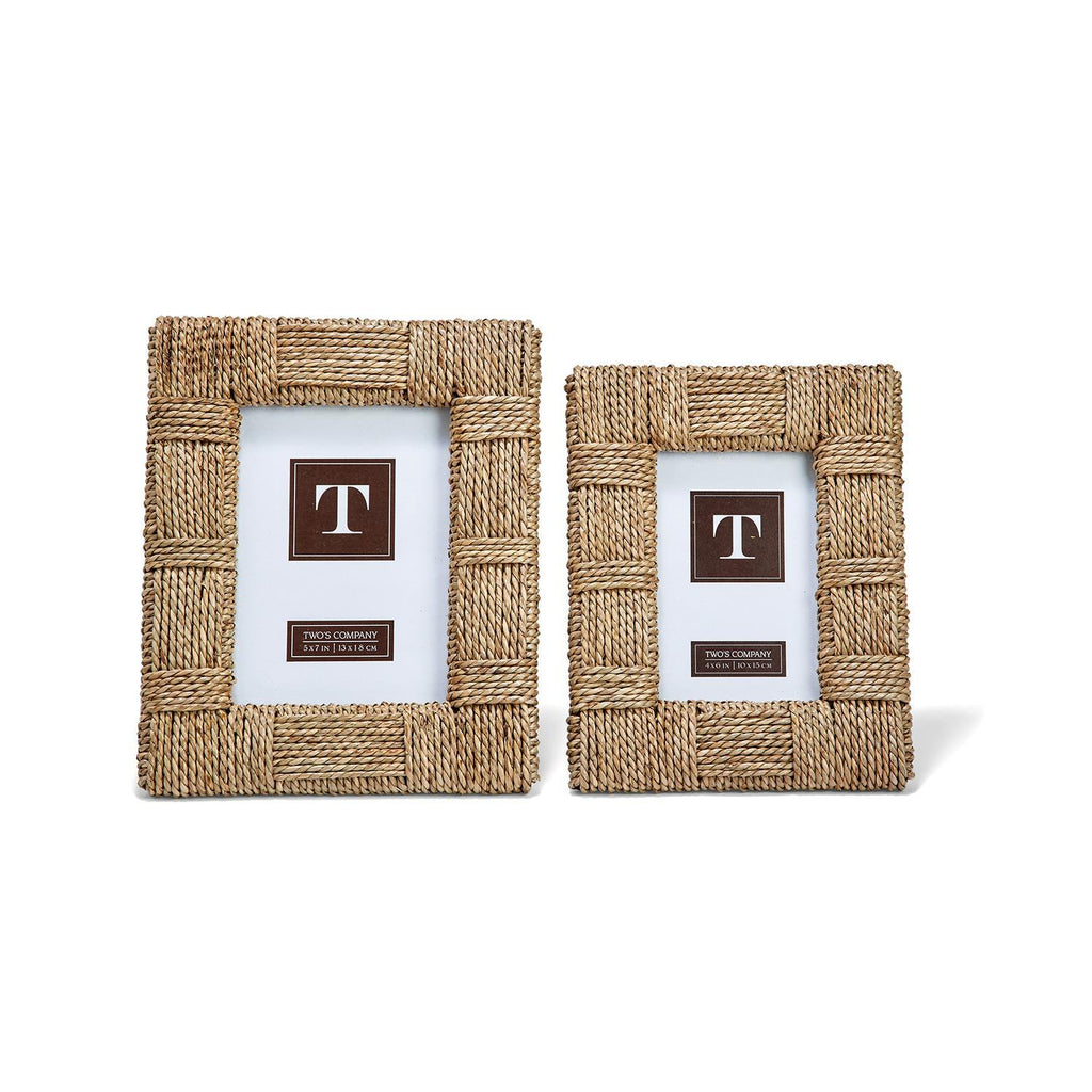 Two's Company Sea Grass Frame - Multiple Sizes