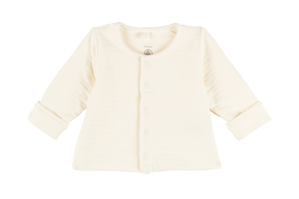Petit Bateau Moulure White Quilted Cardigan