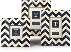 Two's Company Chevron Inlay Frame