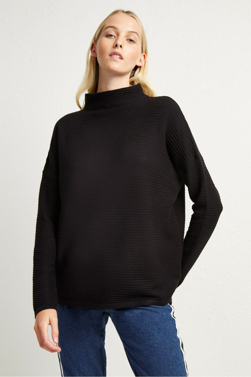 French Connection Babysoft Lena Sweater in Black