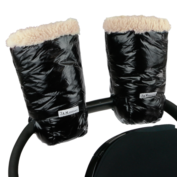 7AM Enfant Warmmuffs in Black Polar