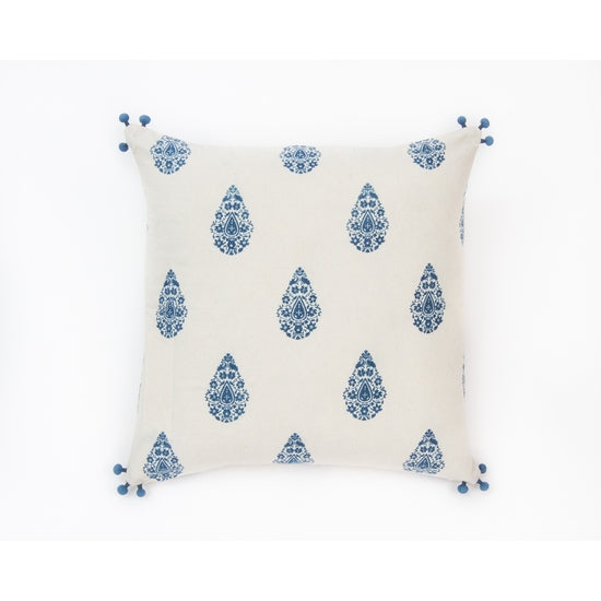 Alamwar Henna Pillow in Indigo