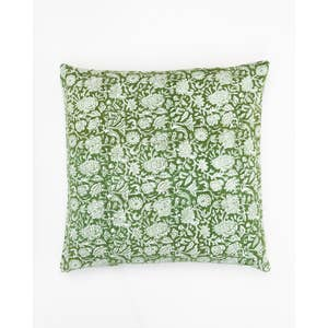Alamwar Briar Rose Pillow in Green