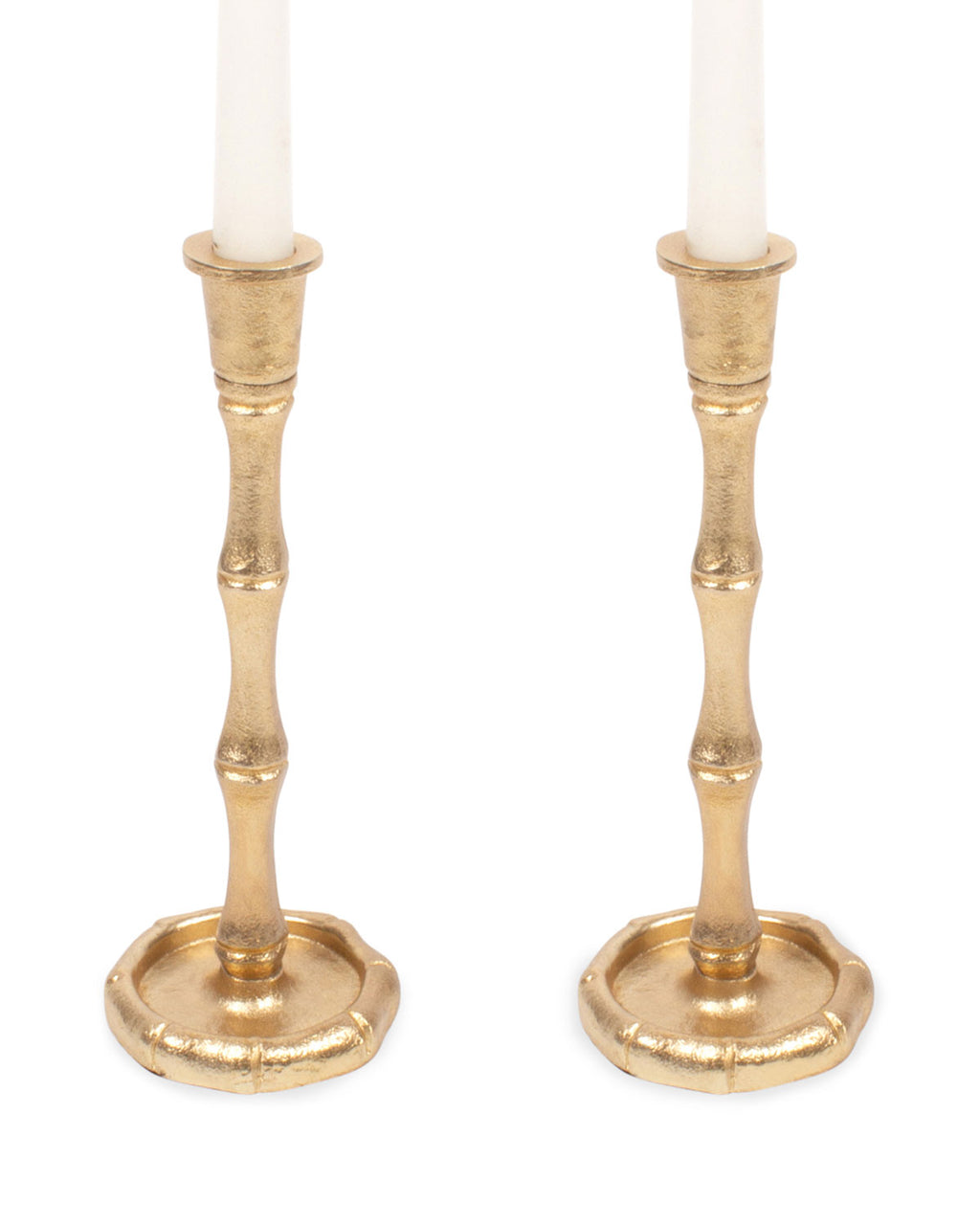 8 Oak Lane Gold Bamboo Candlestick Set