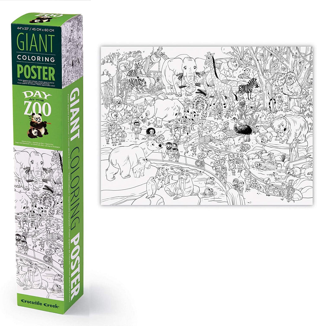 Crocodile Creek Zoo Giant Coloring Poster
