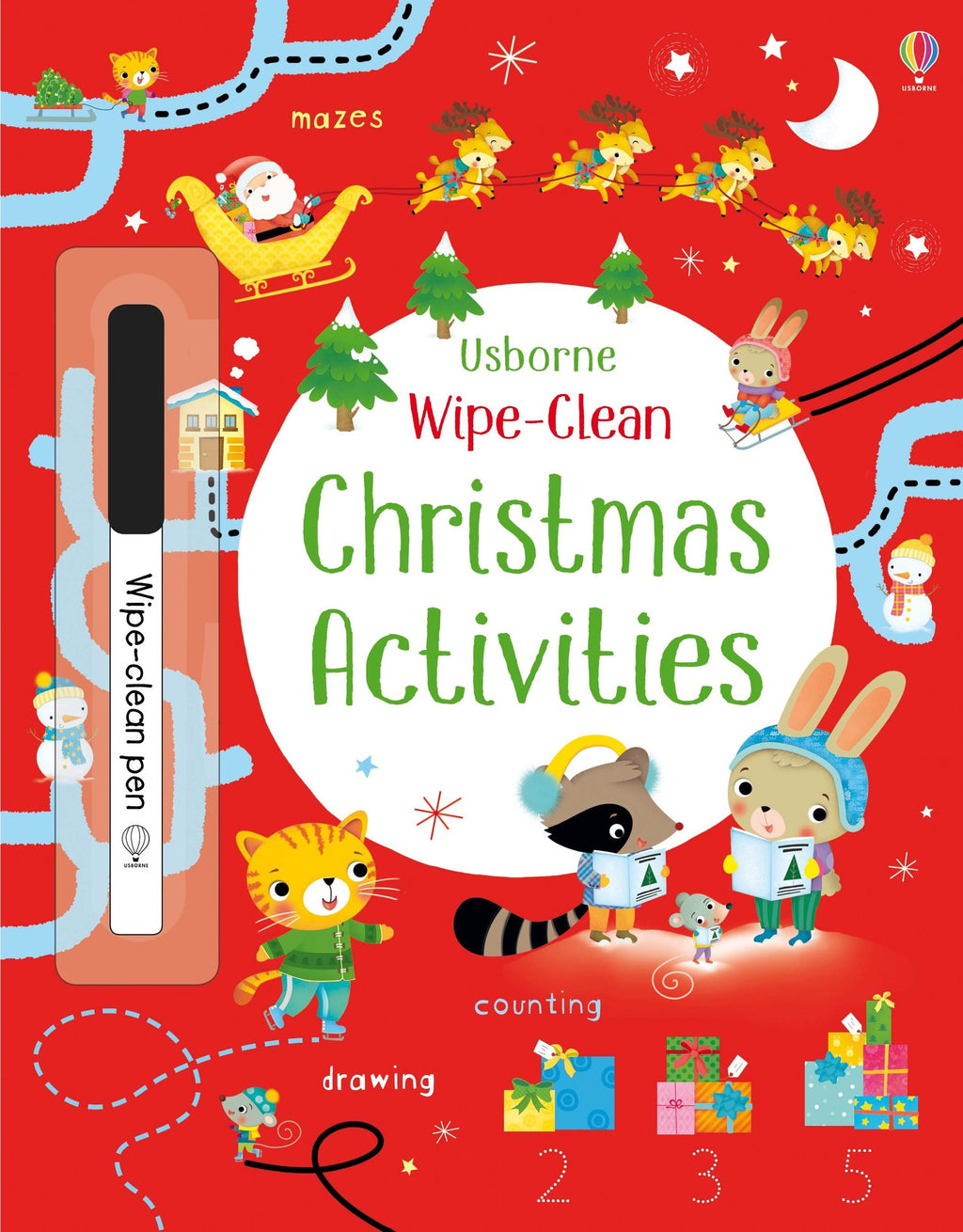 Usborne Wipe Clean Christmas Activities Book