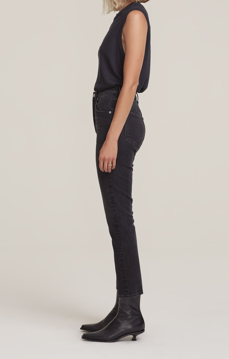 Agolde Riley Straight Leg High Rise Crop Jean in Panoramic