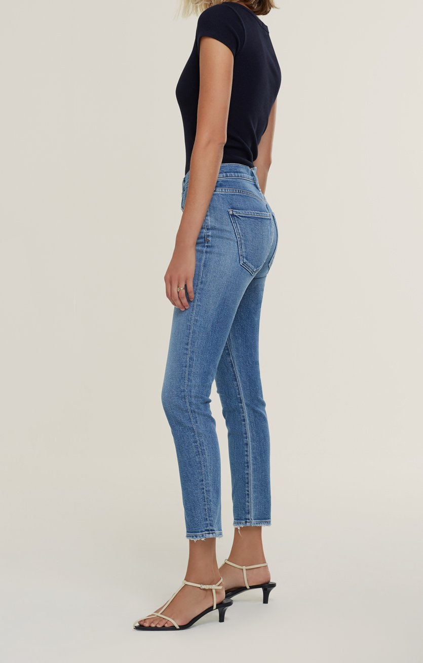 Agolde Toni Mid-Rise Straight Jean in Viewpoint