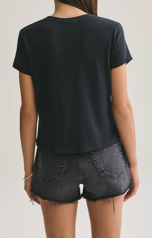 Agolde Linda Boxy Tee in Nocturne