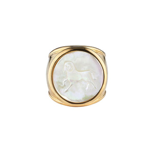 Asha by Ashley McCormick Mother of Pearl Zodiac Ring
