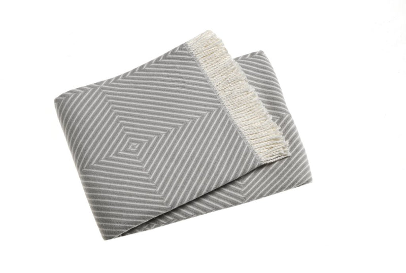 A Soft Idea Plush Graphic Squares Throw Blanket