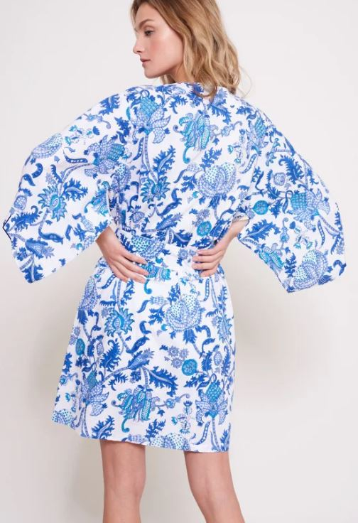 Roller Rabbit Amanda Kimono in Royal Blue