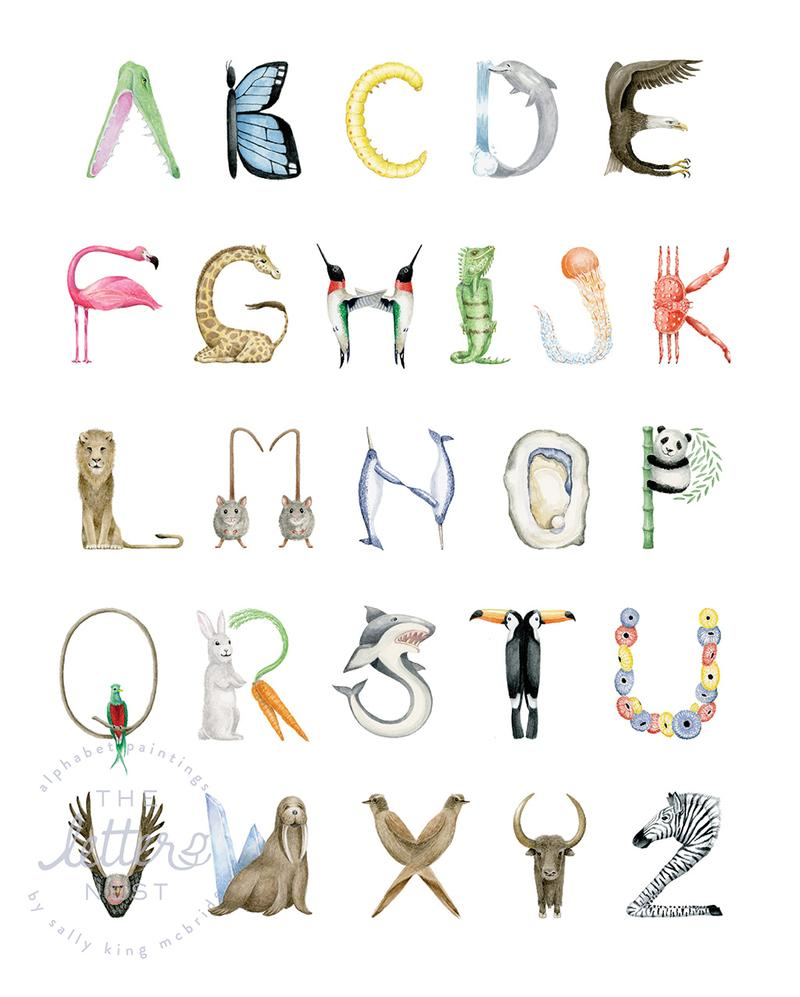 The Letter Nest Animal Alphabet Print