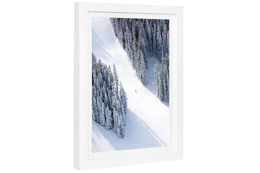 Gray Malin Aspen Lone Skier Mini Print Framed