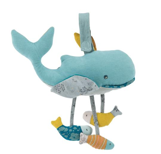 Moulin Roty Josephine the Blue Whale Activity Toy