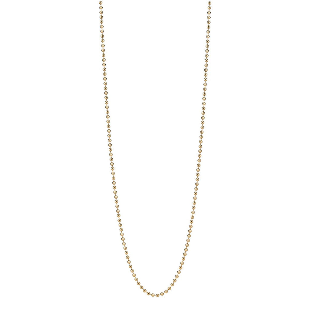 "*Trunk Show* Asha by Ashley McCormick 30"" Vermeil Beaded Chain"
