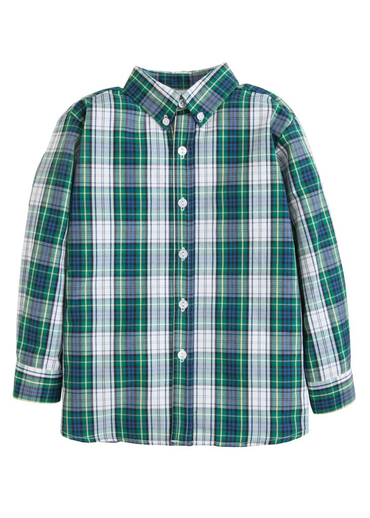Little English Button Down Shirt in Kentucky Tartan