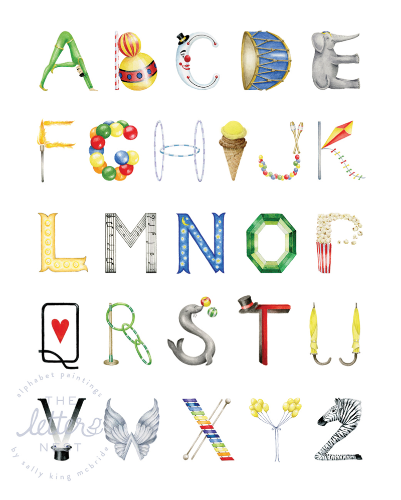 The Letter Nest Circus Alphabet Print