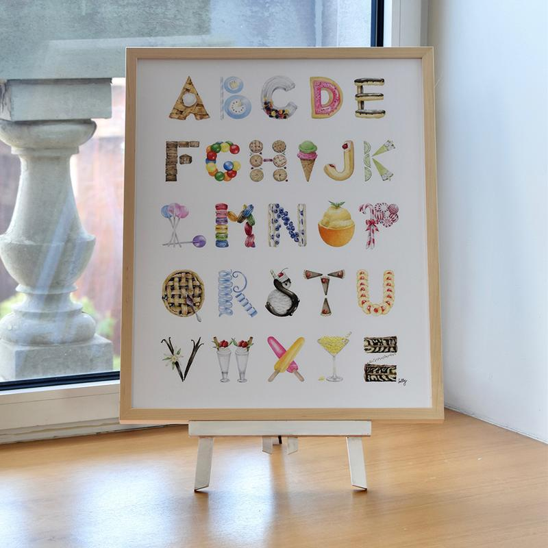 The Letter Nest Dessert Alphabet Print