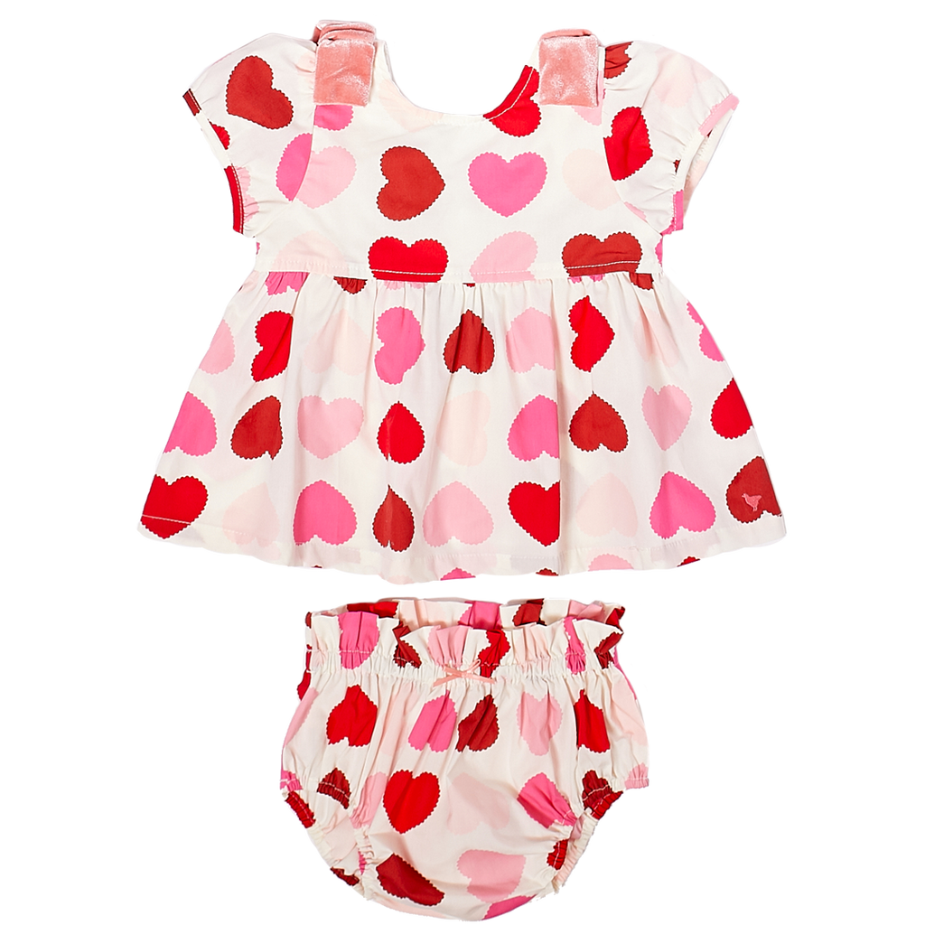 Pink Chicken Erin 2-Piece Set in Scalloped Hearts