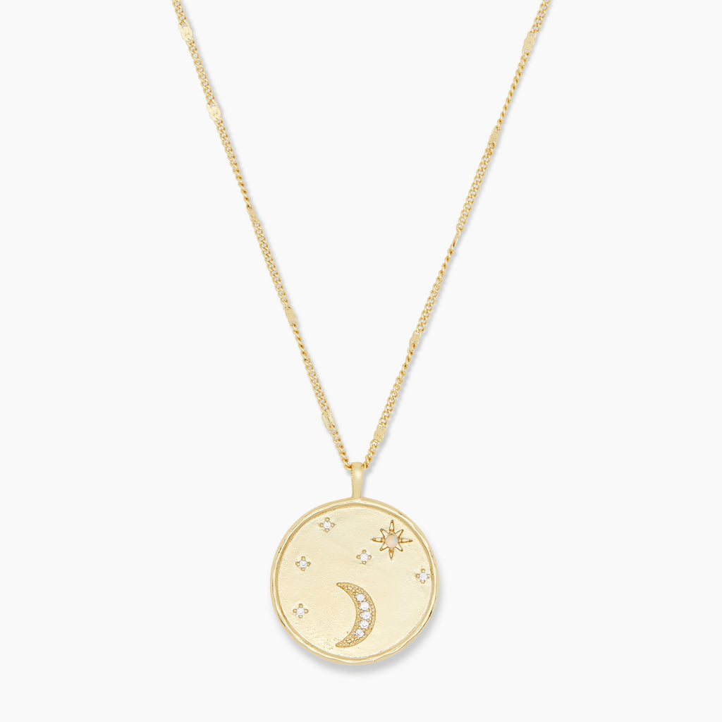 Gorjana Luna Coin Necklace in Gold