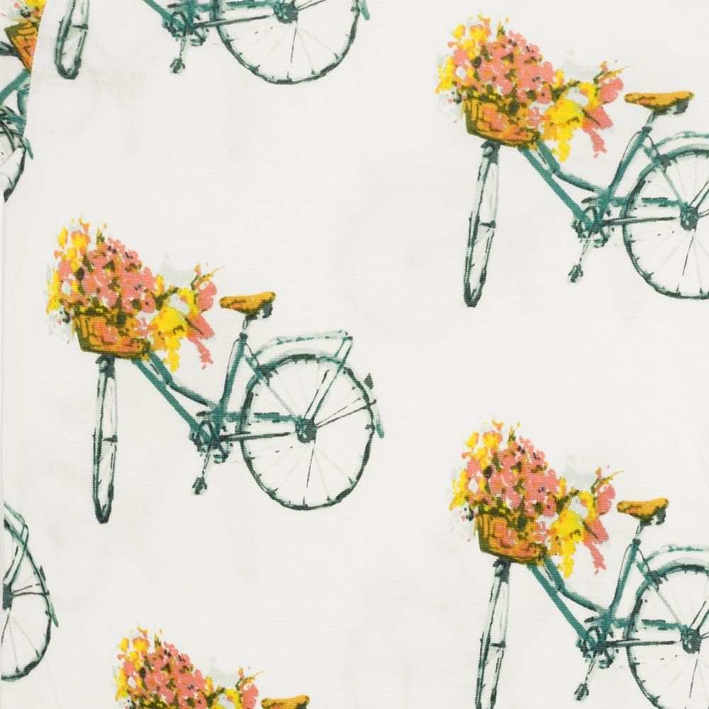 Milkbarn Floral Bicycle Bamboo Muslin Swaddle Blanket