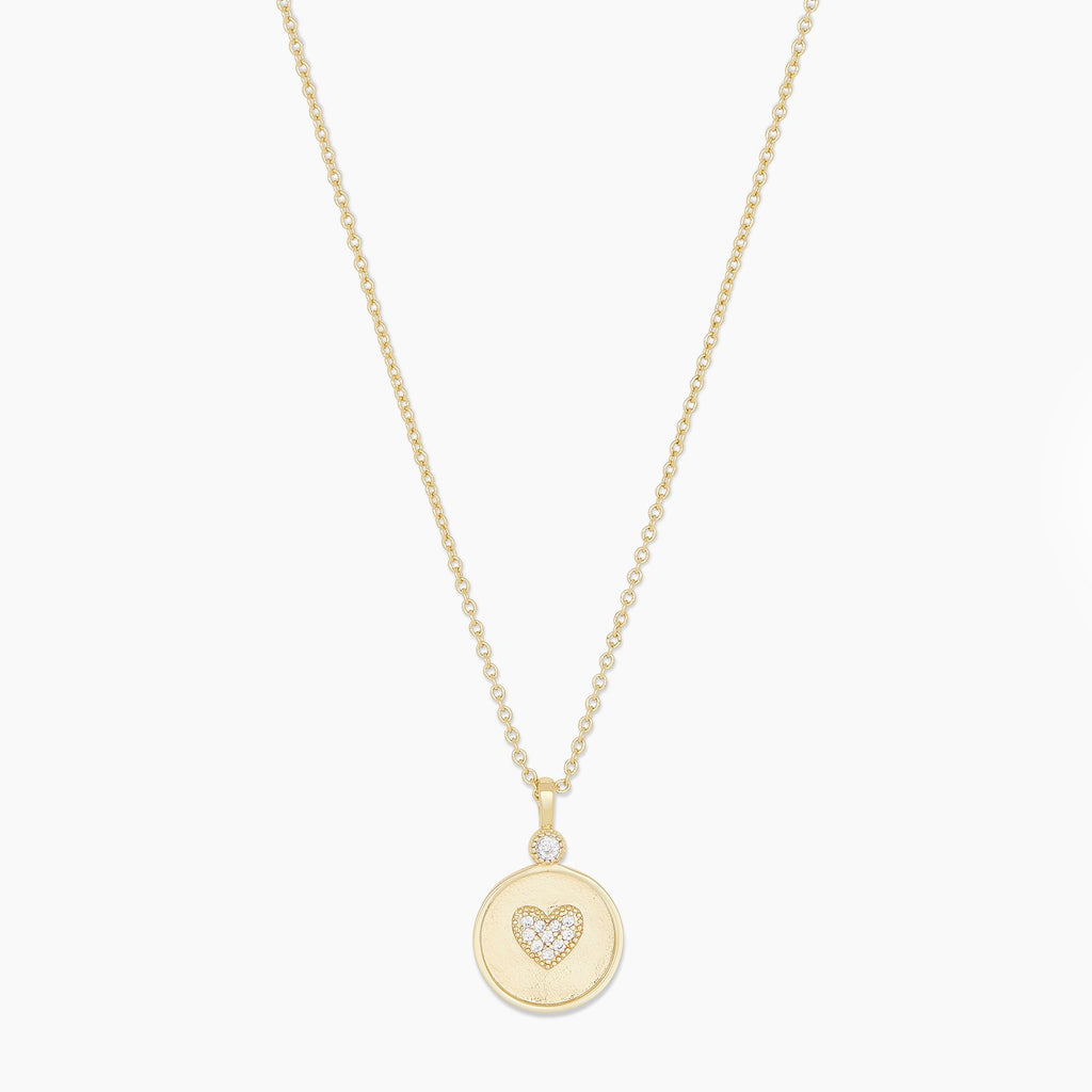 Gorjana Madison Heart Coin Necklace in Gold