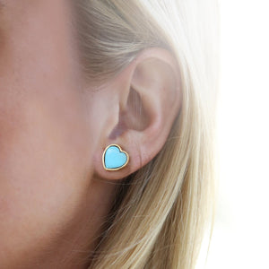 *Trunk Show* Asha by Ashley McCormick Heart Studs in Turquoise