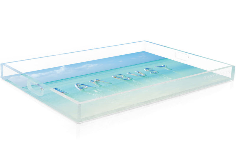"Gray Malin The ""I Am Busy"" Tray"