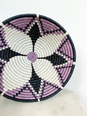 Kazi Handwoven Basket in Purple Rhapsody