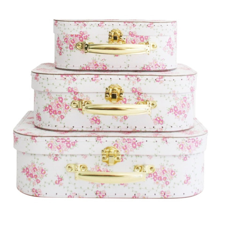 Alimrose Kids Carry Case Set in Floral Wreath White
