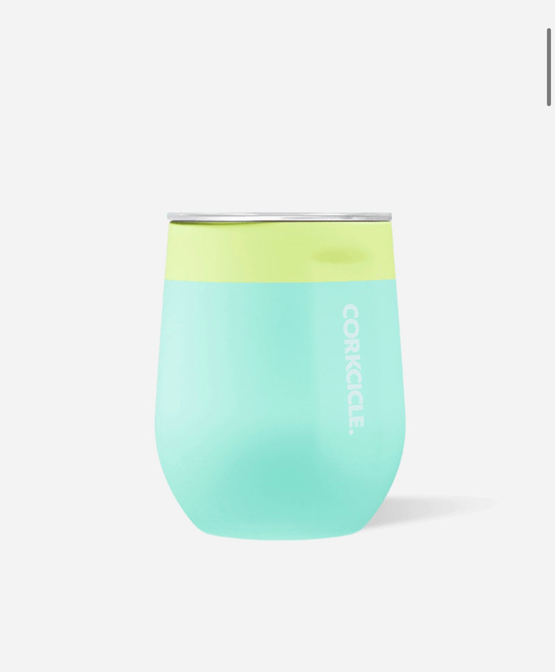 Corkcicle Stemless Wine Glass in Limeade