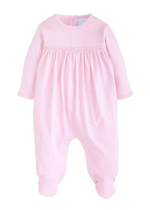 Little English Welcome Home Layette Footie in Pink