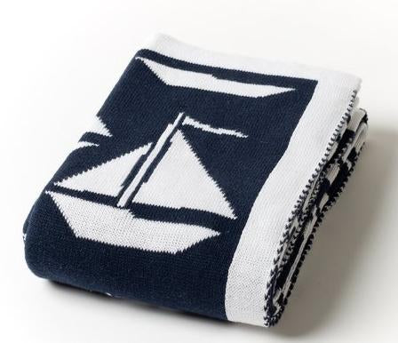 A Soft Idea Sailboat Baby Blanket - Multiple Colors!