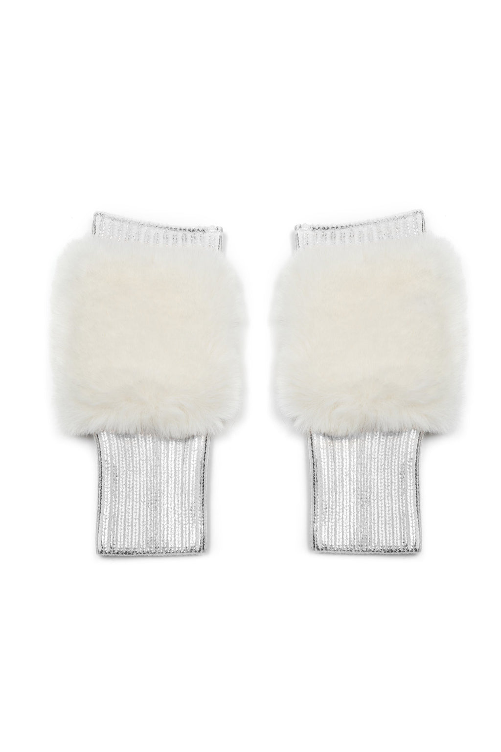 Jocelyn East Broadway Metallic Faux Fur Mittens - Multiple Colors!