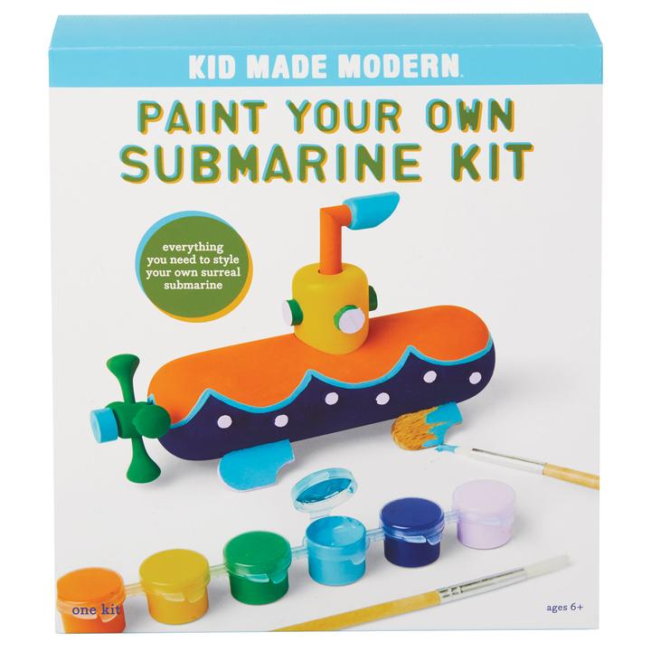 Kid Made Modern Paint Your Own Submarine Kit