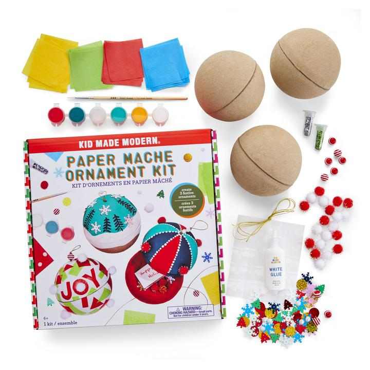 Kid Made Modern Paper Mache Ornament Kit