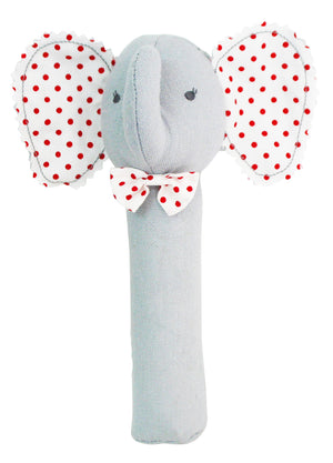 Alimrose Baby Elephant Squeaker Toy in Grey