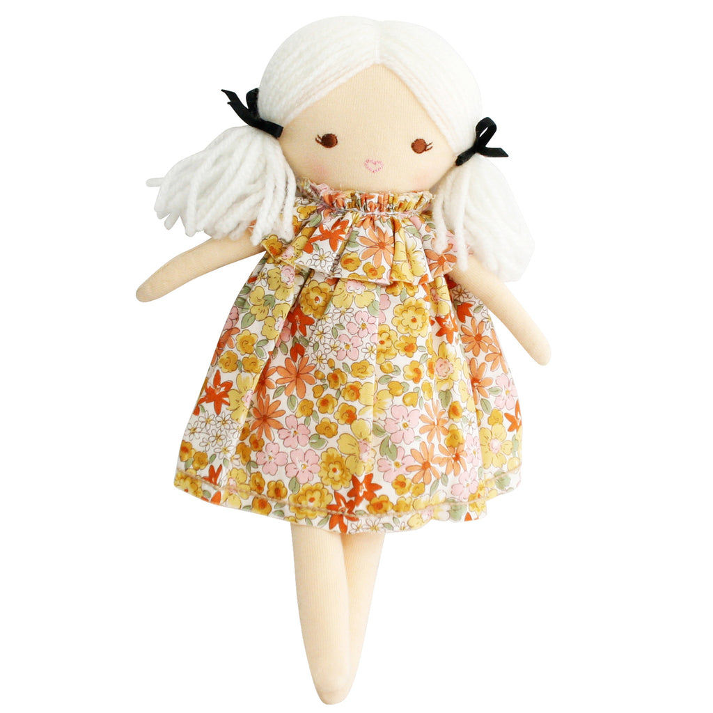 Alimrose Mini Matilda Asleep Awake Doll in Marigold